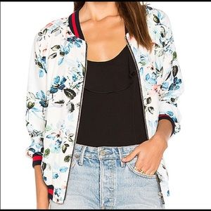 Sanctuary floral bomber lightweight jacket